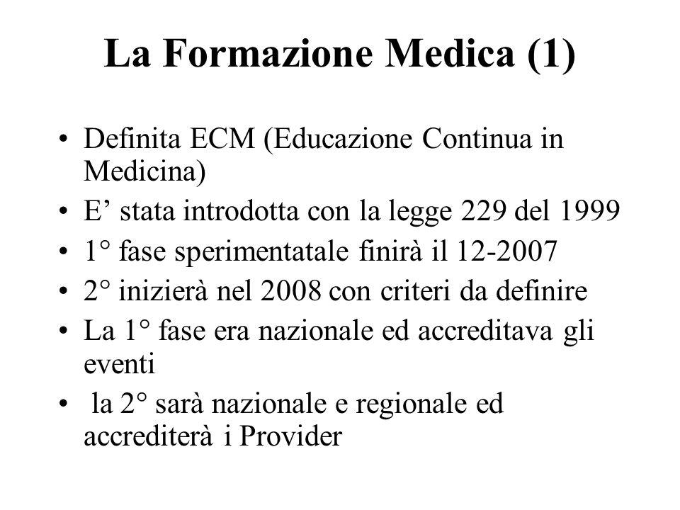 La Formazione Medica (1)