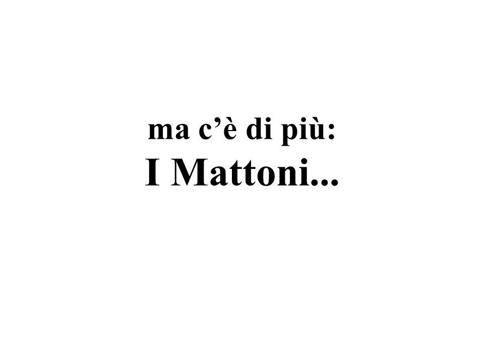 ma c'è di più: I Mattoni...