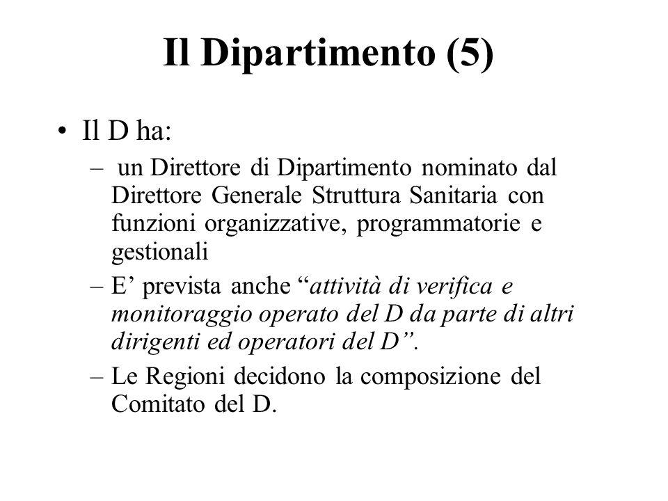 Il Dipartimento (5) Il D ha: