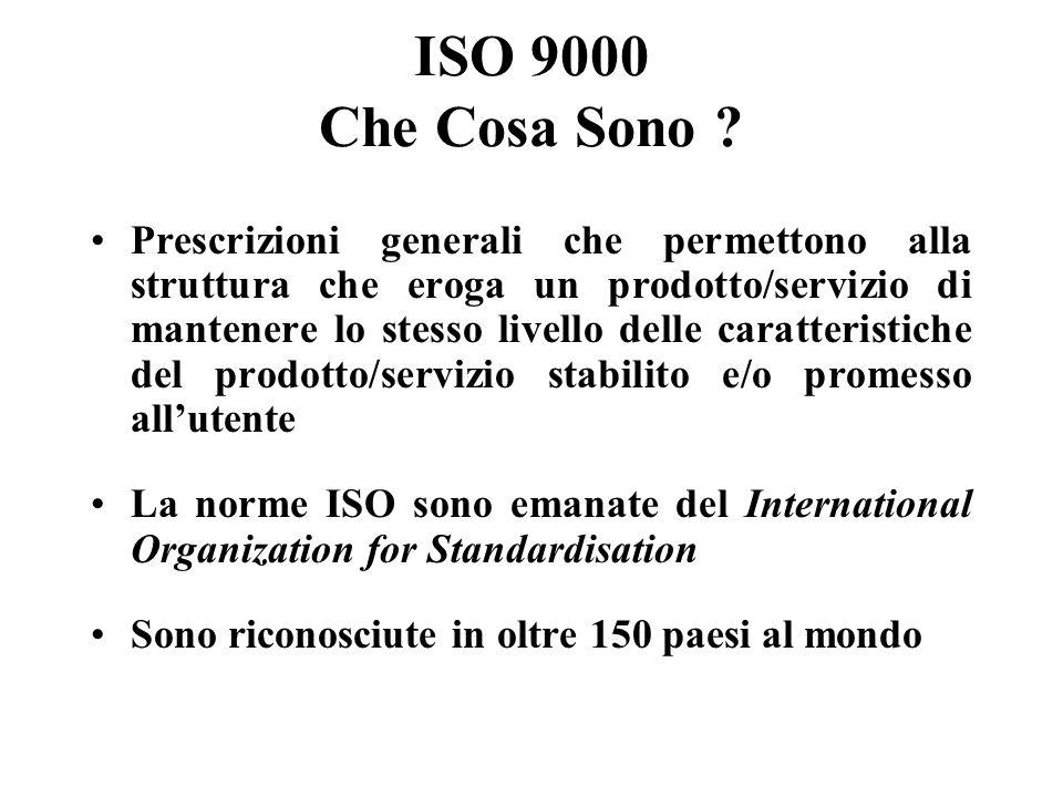 ISO 9000 Che Cosa Sono