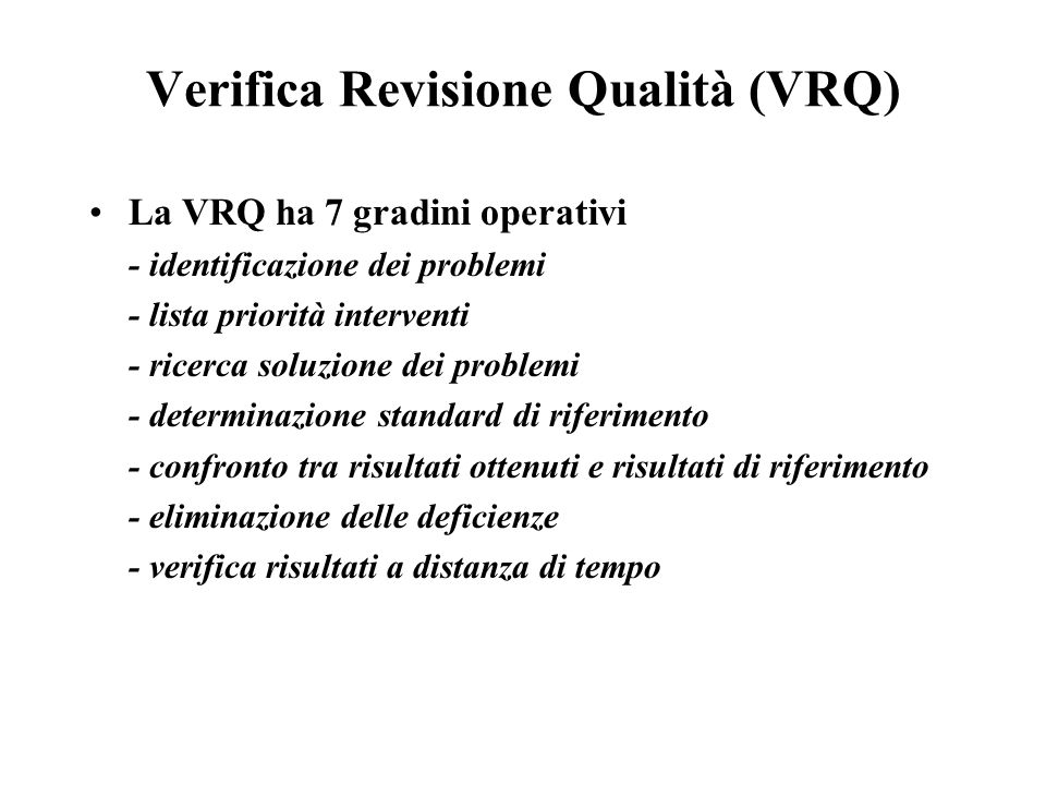 Verifica Revisione Qualità (VRQ)