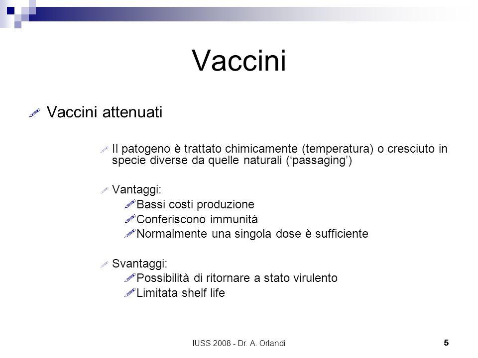 Vaccini Vaccini attenuati