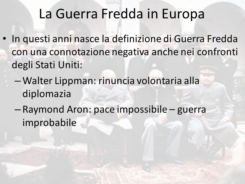 La Guerra Fredda in Europa