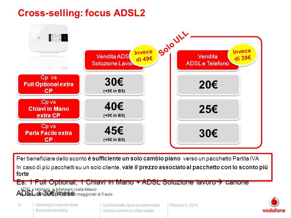 Cross-selling: focus ADSL2