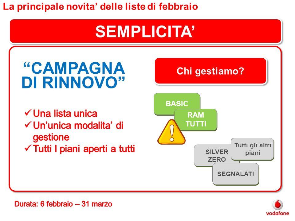 SEMPLICITA' CAMPAGNA DI RINNOVO
