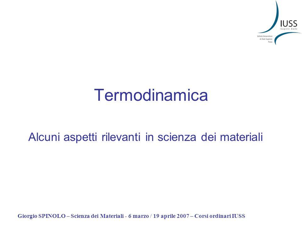 Alcuni aspetti rilevanti in scienza dei materiali