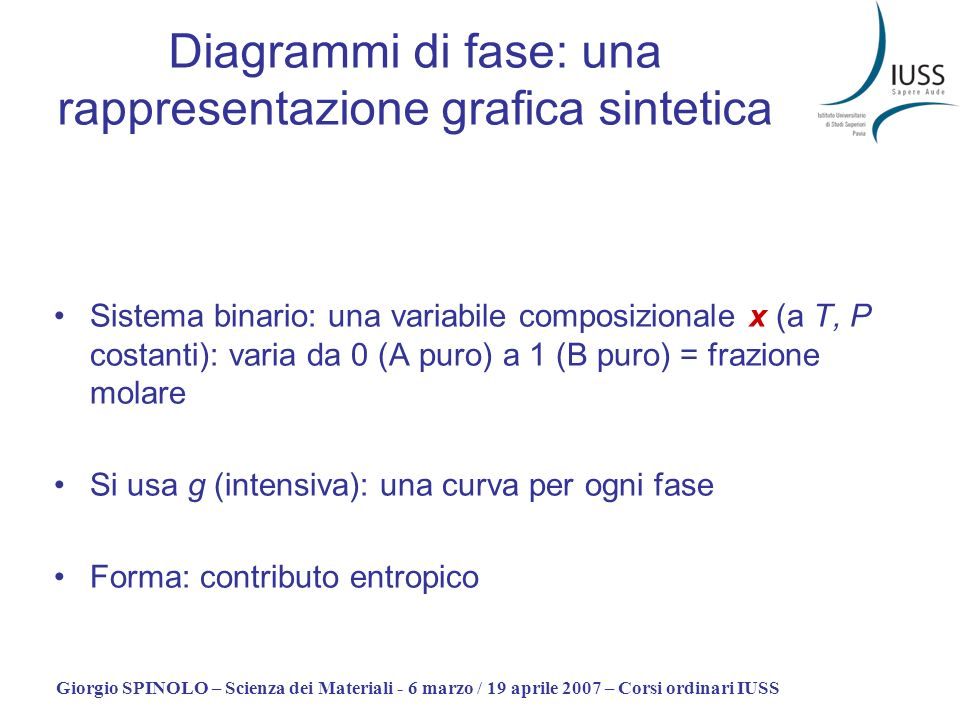 Diagrammi di fase: una rappresentazione grafica sintetica