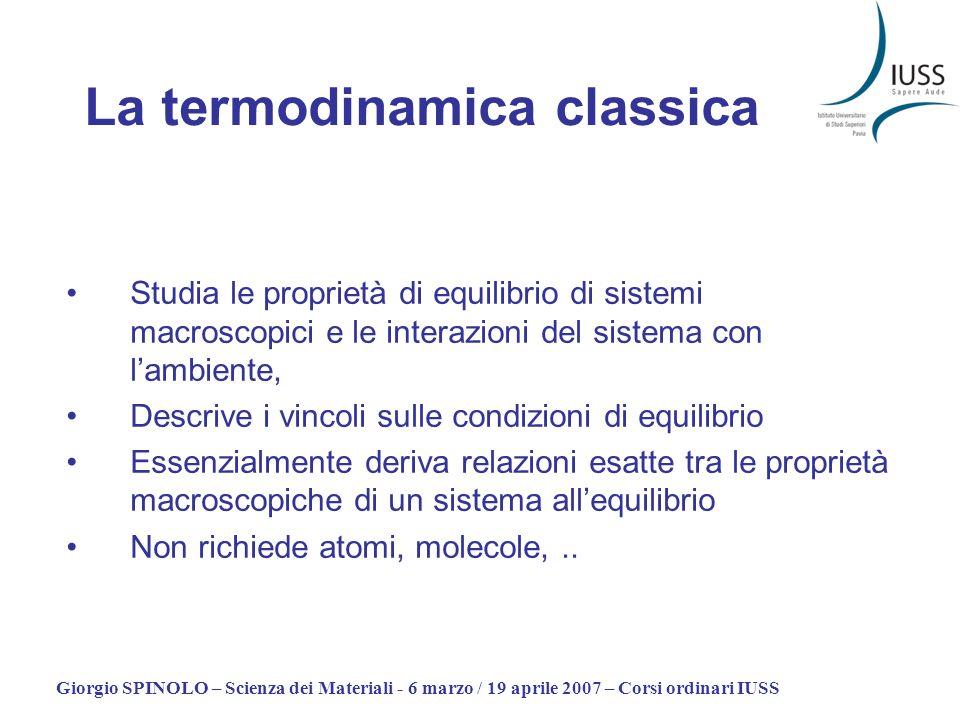 La termodinamica classica