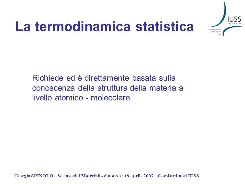 La termodinamica statistica