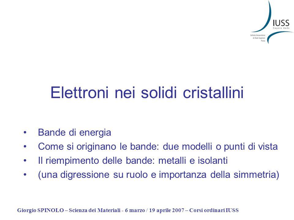 Elettroni nei solidi cristallini
