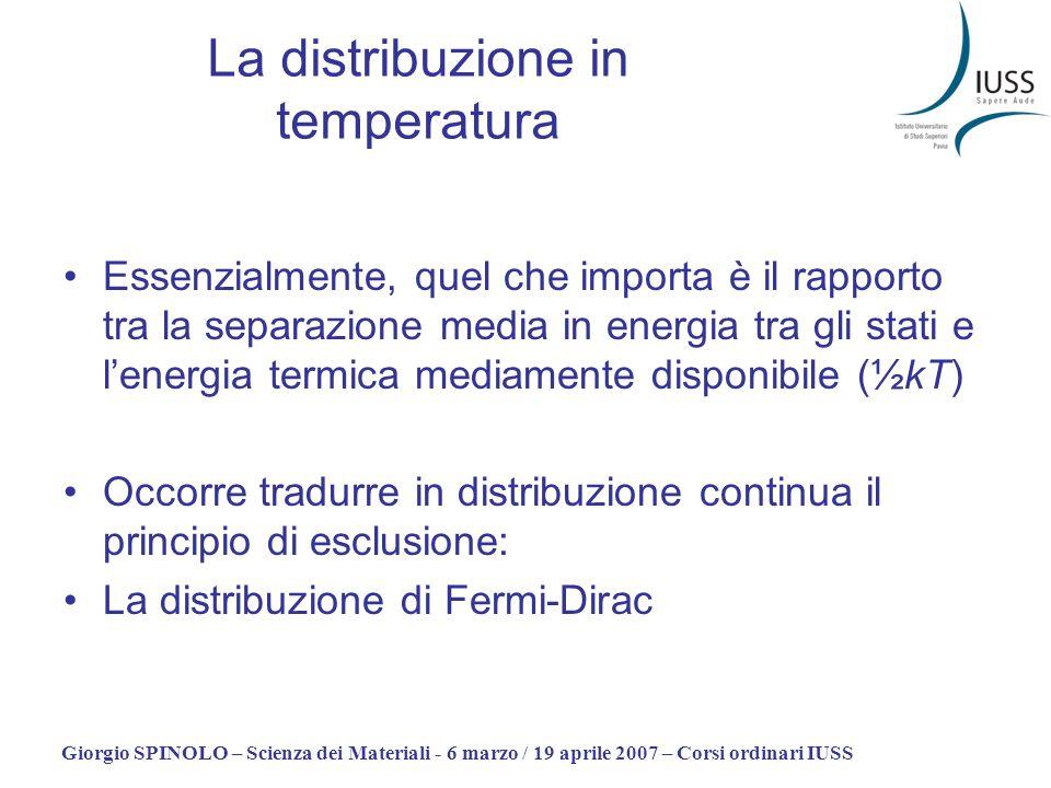 La distribuzione in temperatura