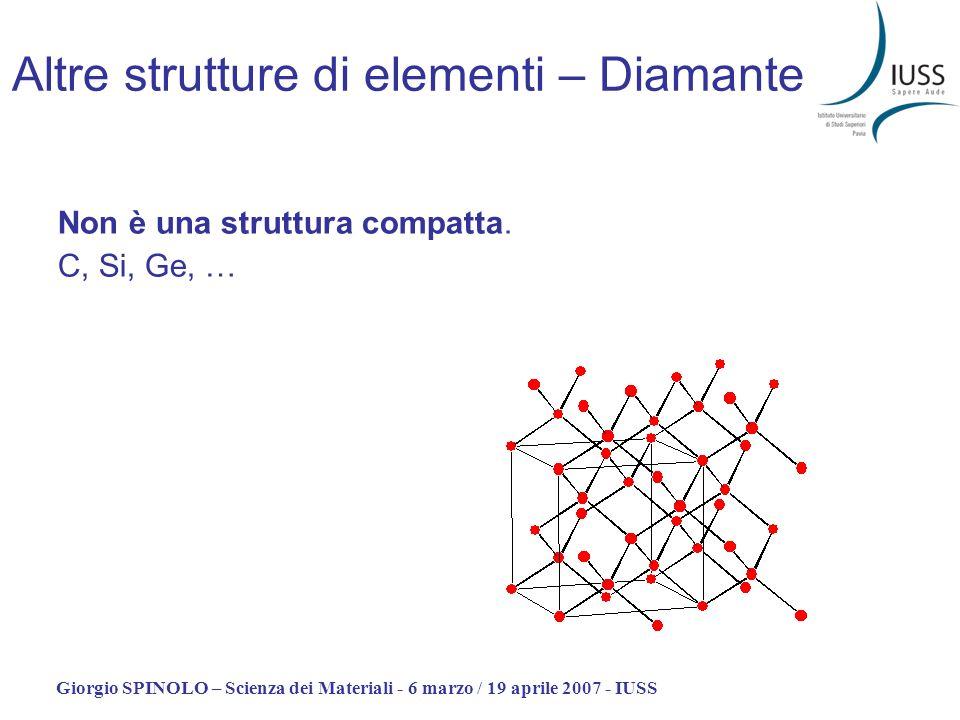 Altre strutture di elementi – Diamante