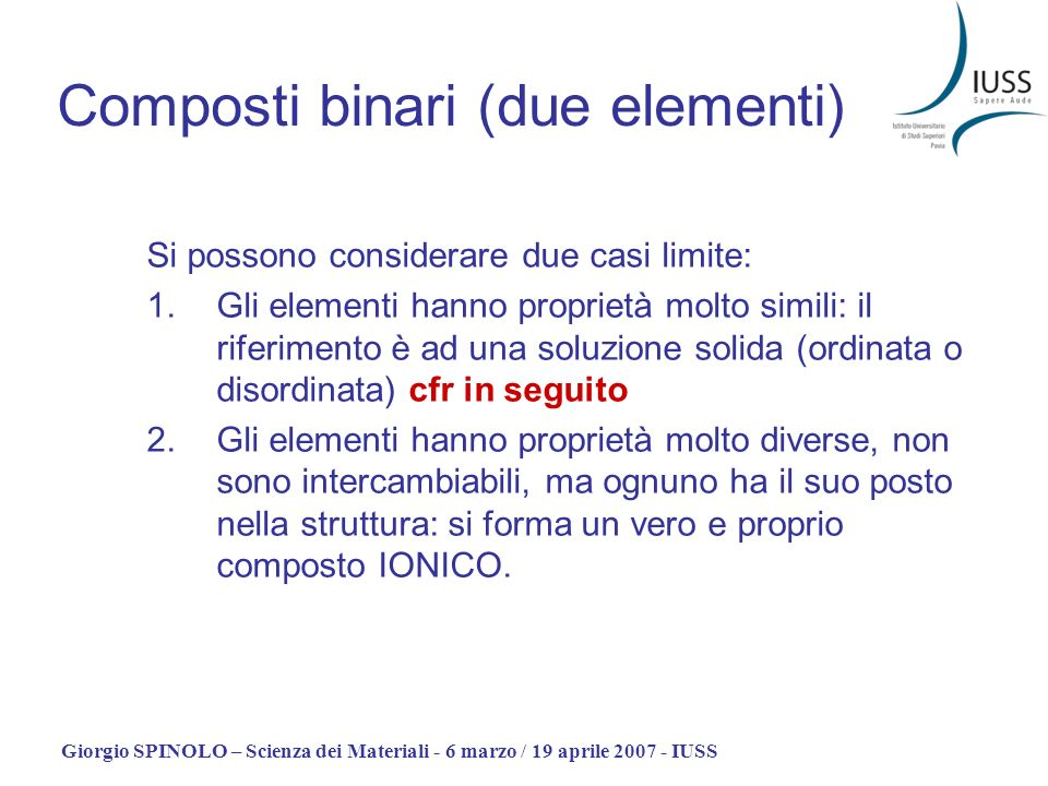 Composti binari (due elementi)
