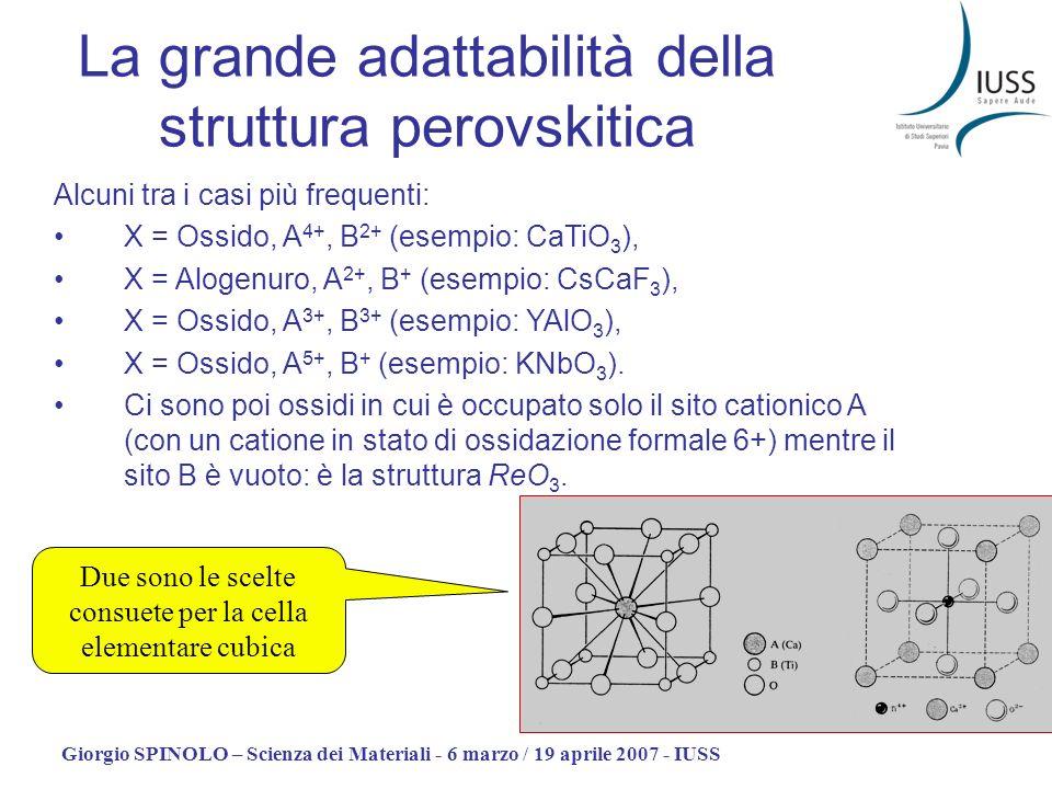 La grande adattabilità della struttura perovskitica