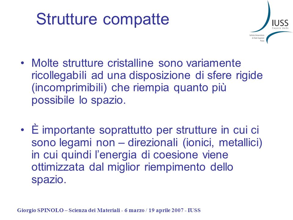 Strutture compatte