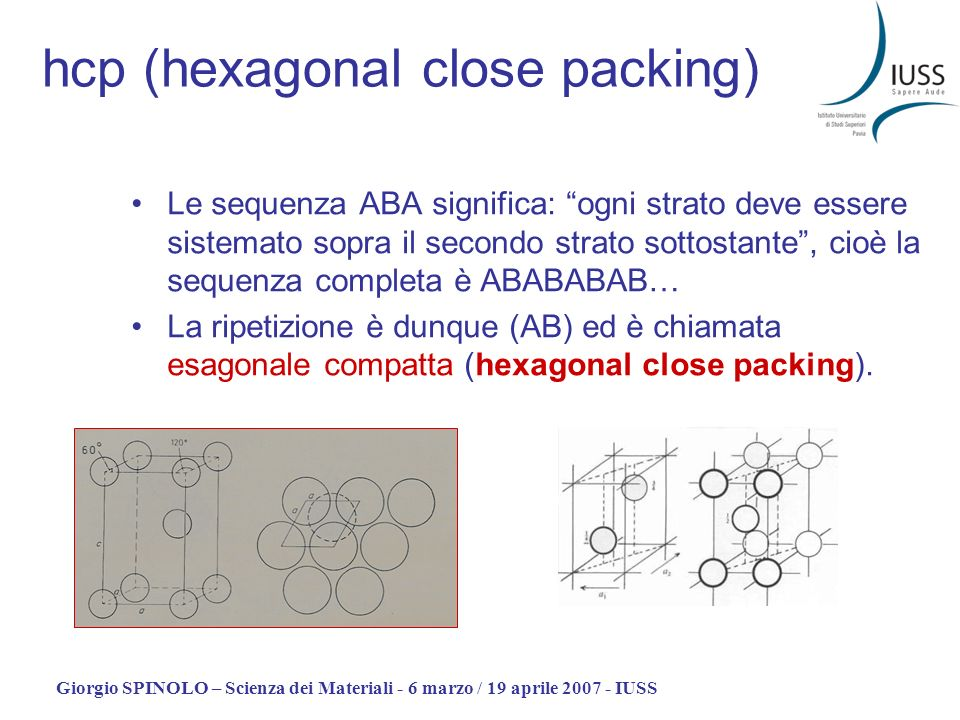 hcp (hexagonal close packing)