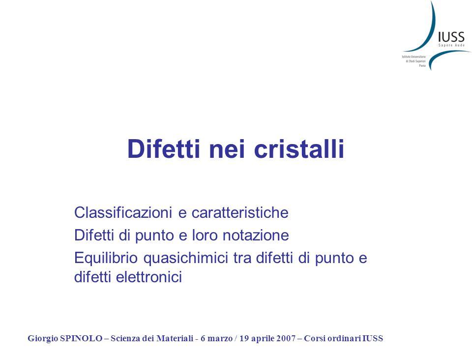 Difetti nei cristalli Classificazioni e caratteristiche
