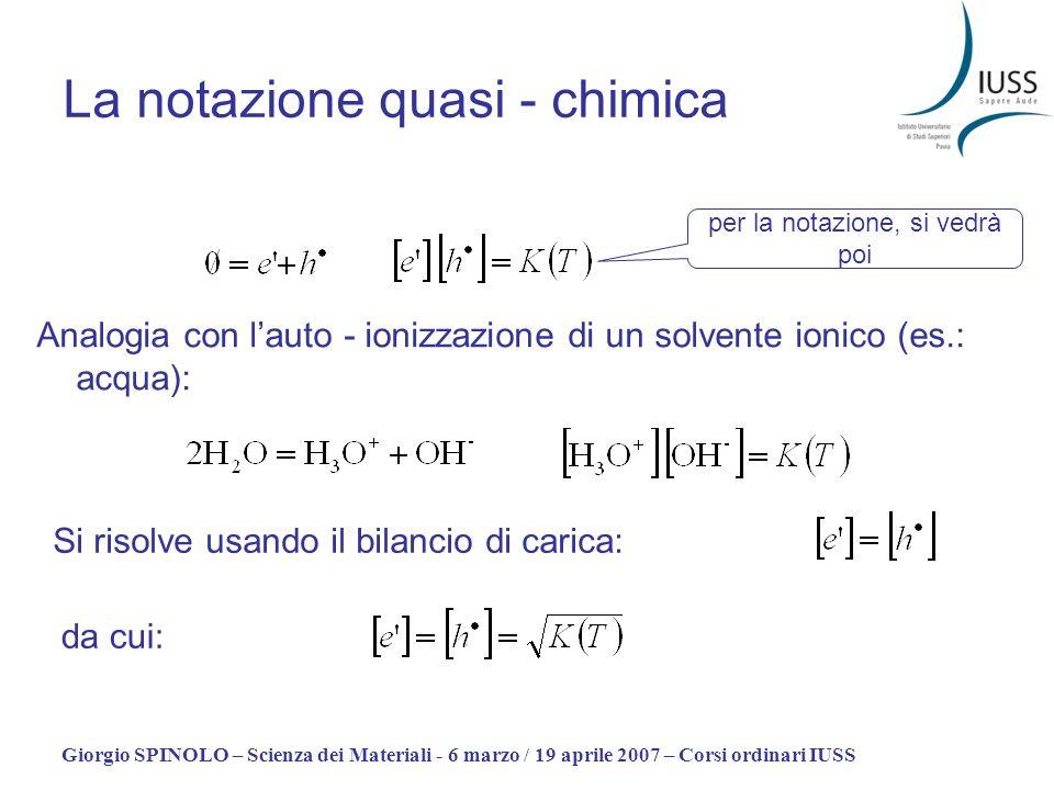 La notazione quasi - chimica