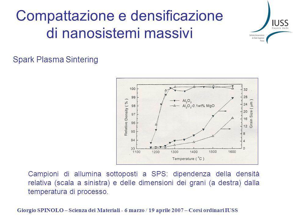 Compattazione e densificazione di nanosistemi massivi