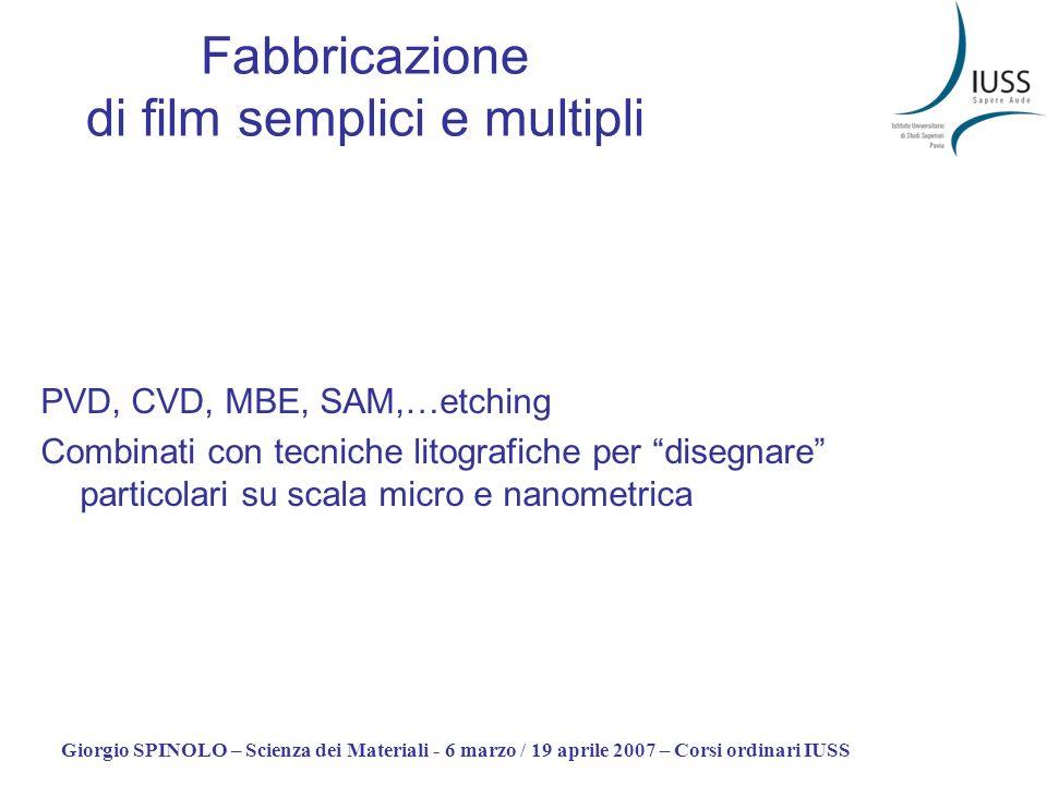 Fabbricazione di film semplici e multipli
