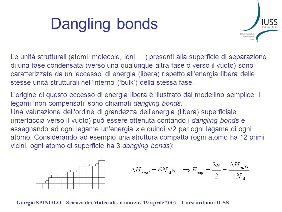 Dangling bonds
