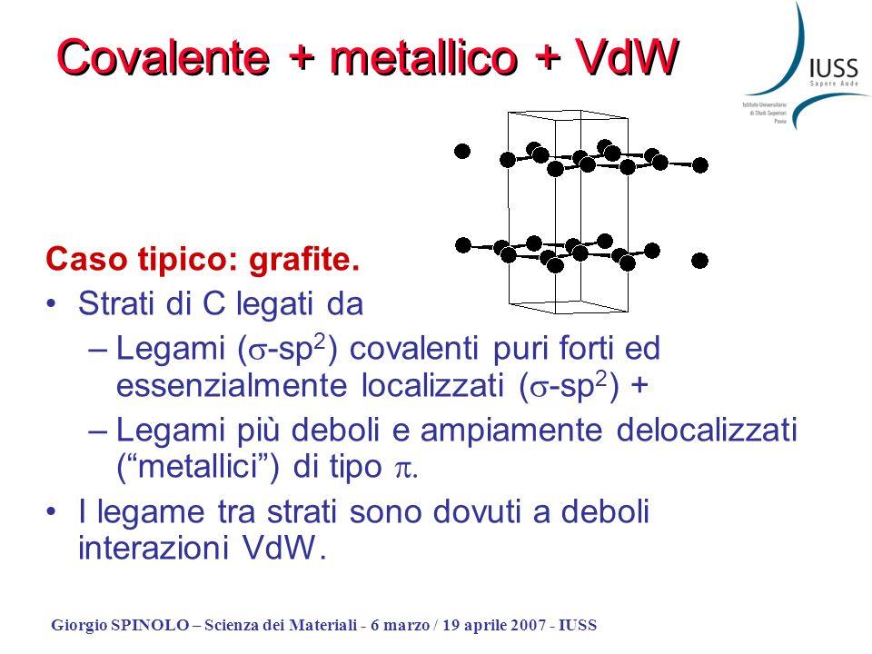 Covalente + metallico + VdW