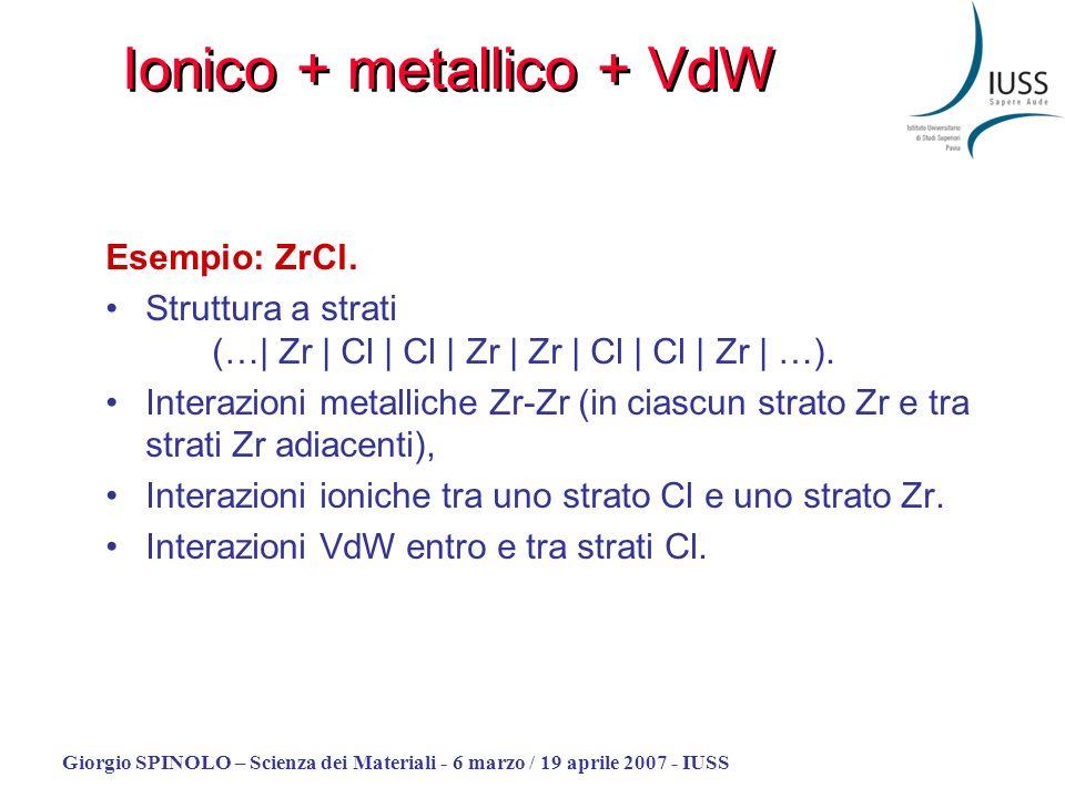Ionico + metallico + VdW
