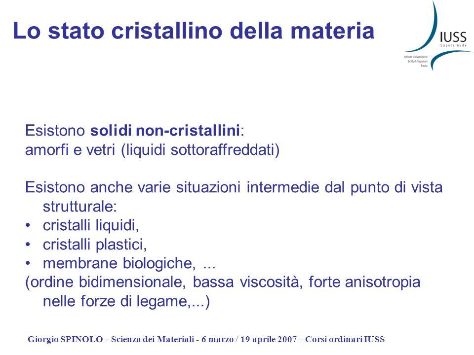 Lo stato cristallino della materia
