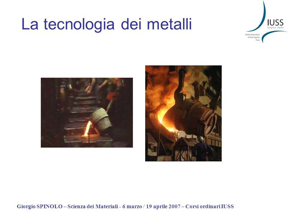 La tecnologia dei metalli