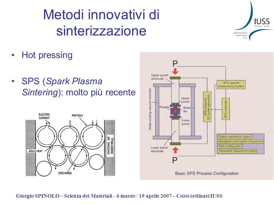 Metodi innovativi di sinterizzazione