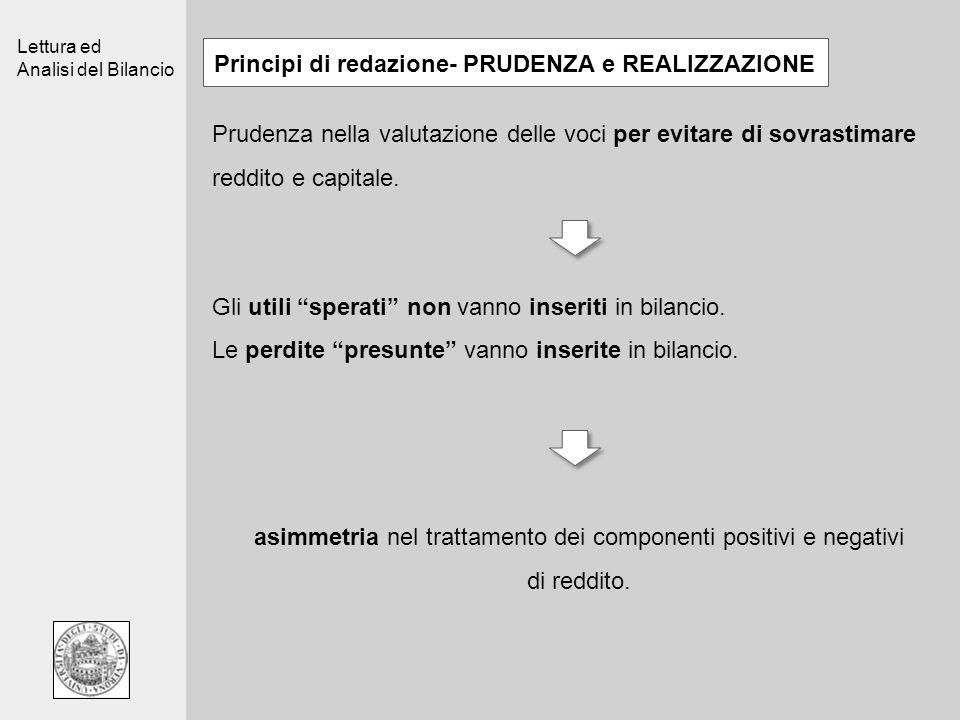 Principi di redazione- PRUDENZA e REALIZZAZIONE