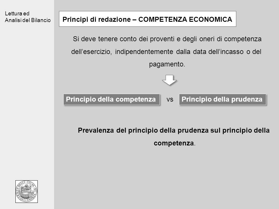 Principi di redazione – COMPETENZA ECONOMICA