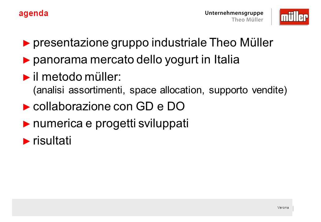 presentazione gruppo industriale Theo Müller