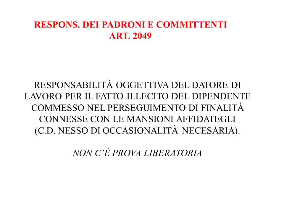 RESPONS. DEI PADRONI E COMMITTENTI