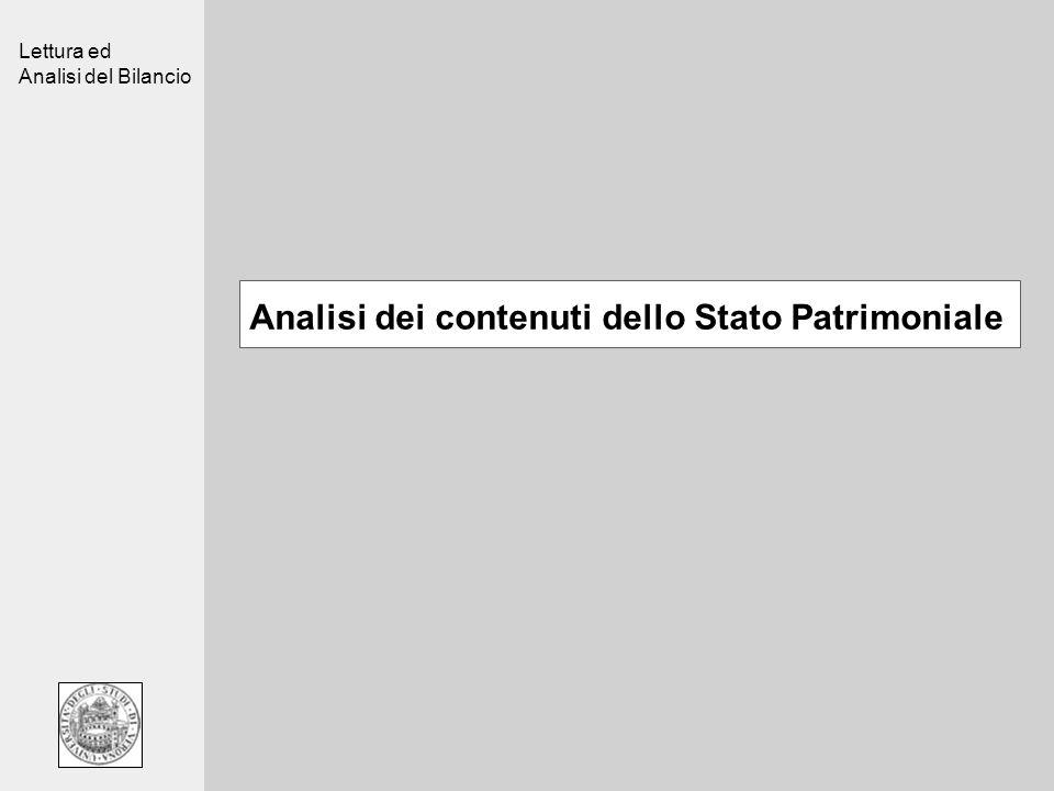 Analisi dei contenuti dello Stato Patrimoniale