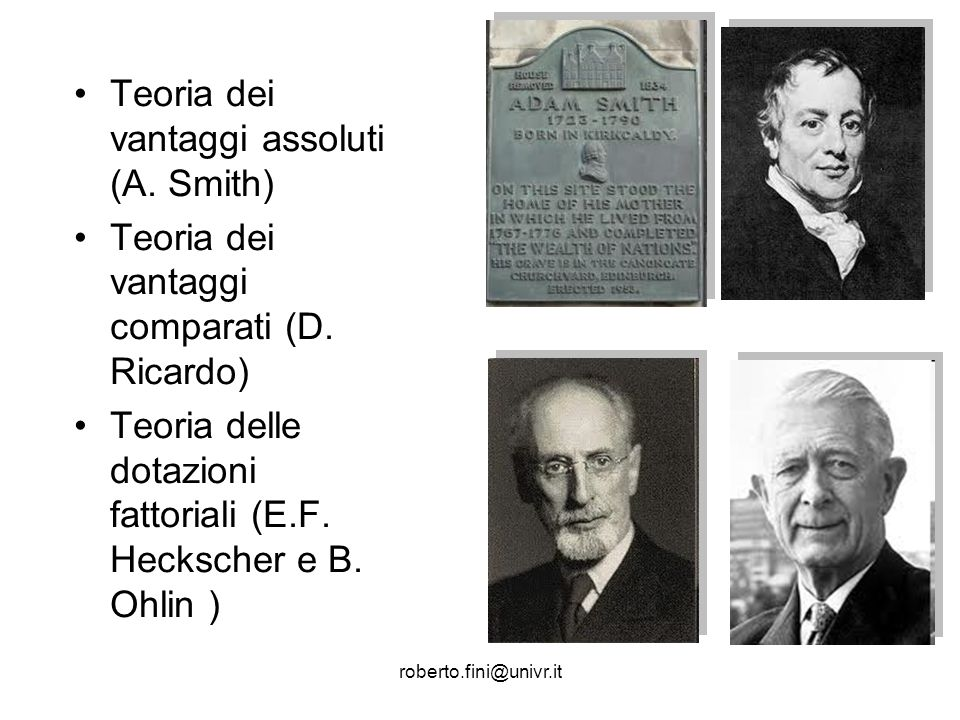 Teoria dei vantaggi assoluti (A. Smith)