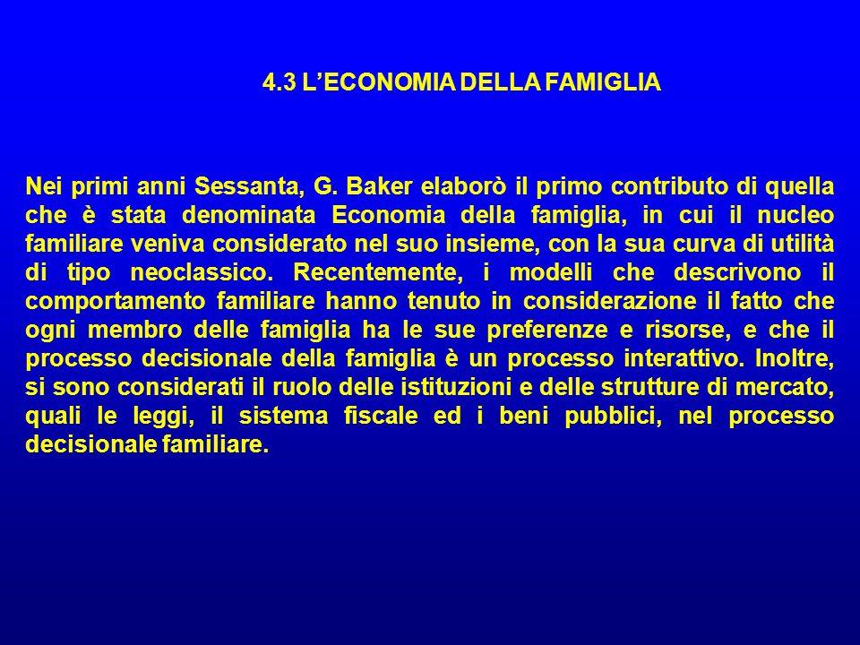 4.3 L'ECONOMIA DELLA FAMIGLIA