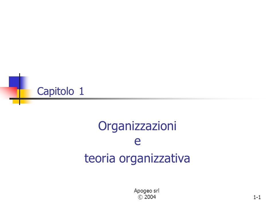 Organizzazioni e teoria organizzativa