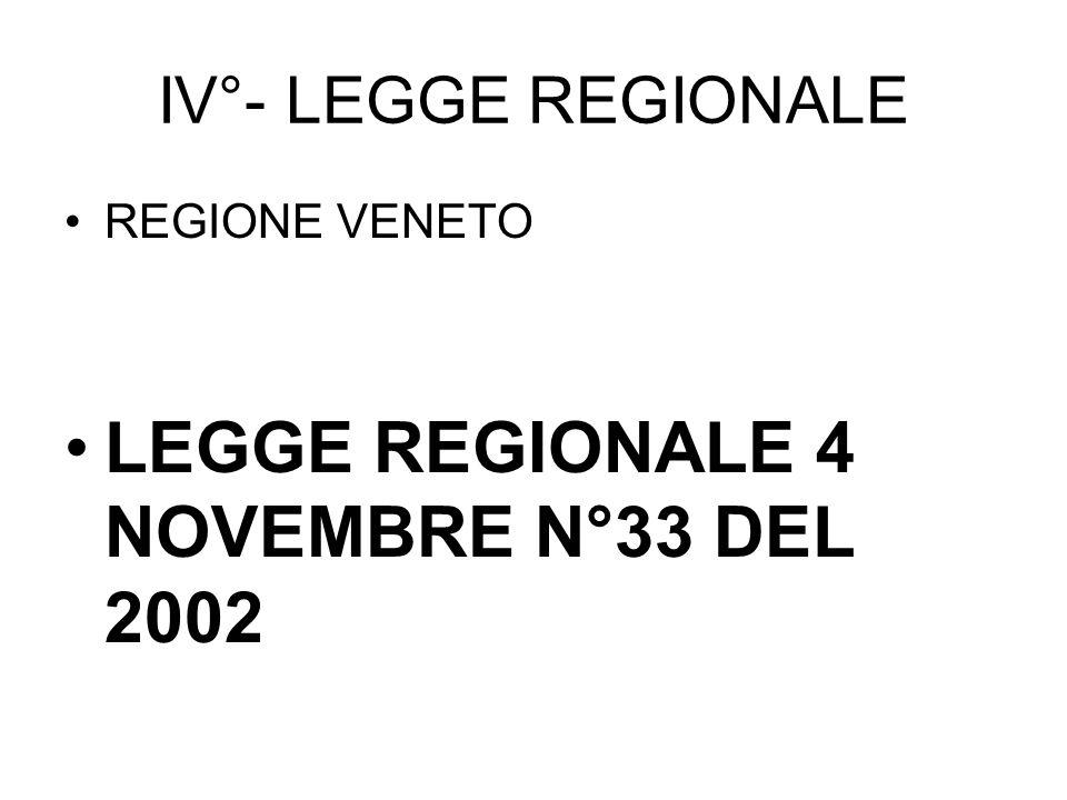 LEGGE REGIONALE 4 NOVEMBRE N°33 DEL 2002