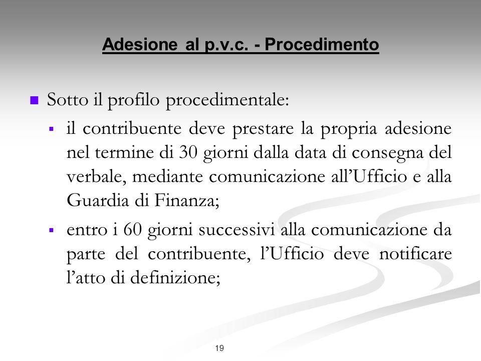 Adesione al p.v.c. - Procedimento