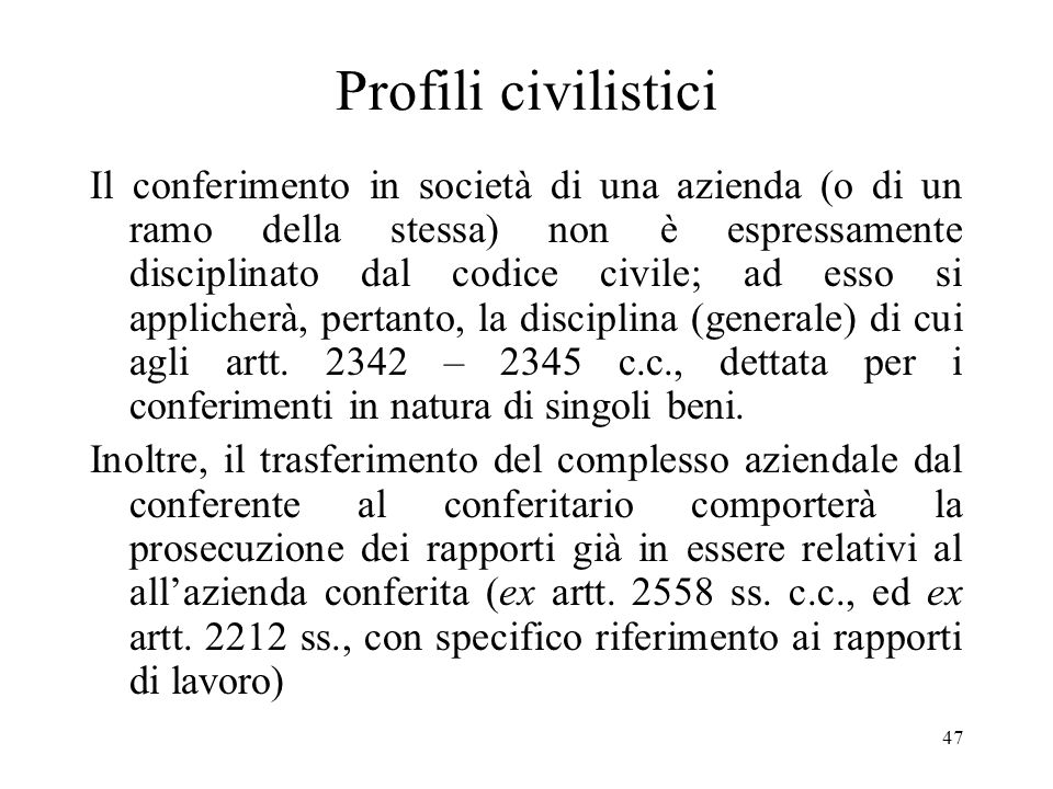 Profili civilistici