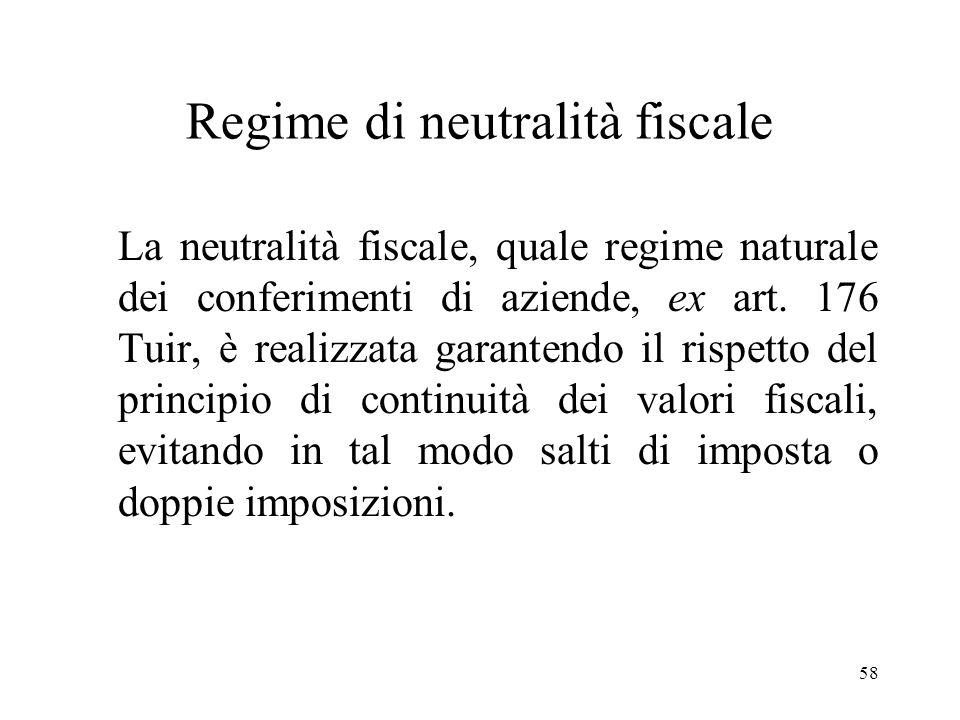 Regime di neutralità fiscale
