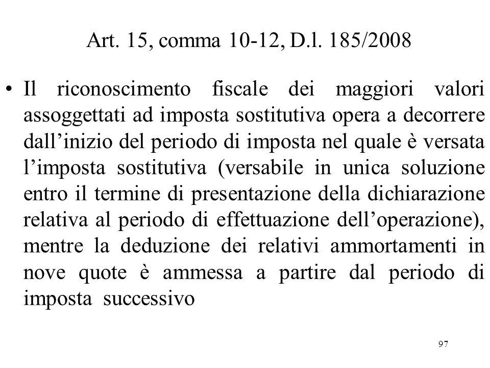 Art. 15, comma 10-12, D.l. 185/2008