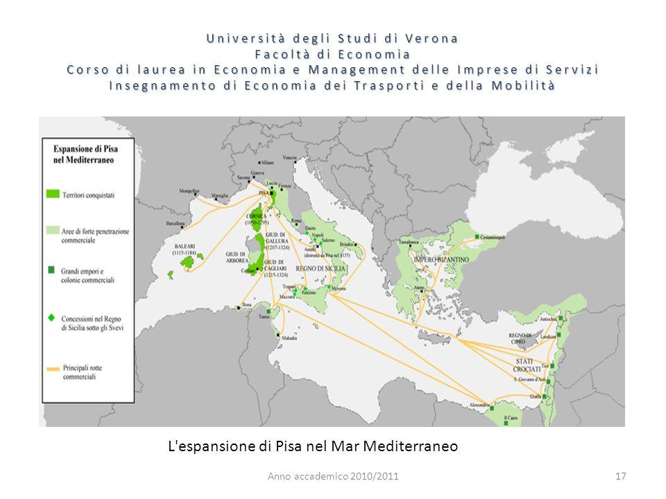 L espansione di Pisa nel Mar Mediterraneo