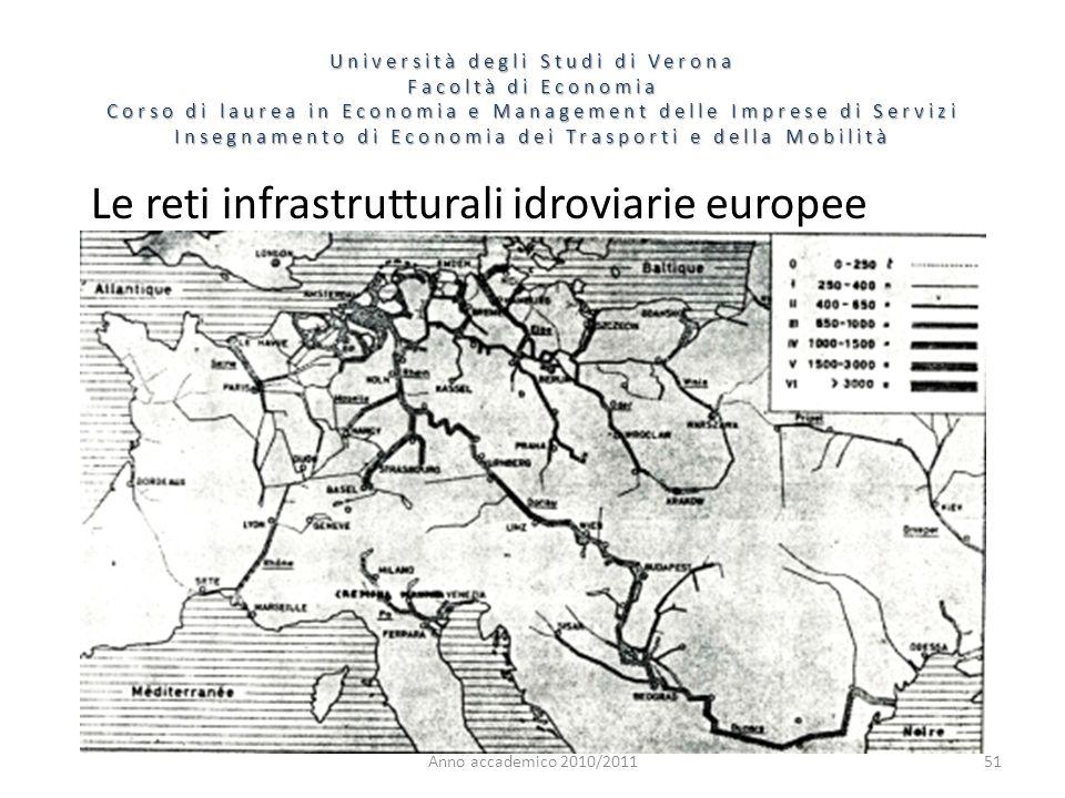 Le reti infrastrutturali idroviarie europee