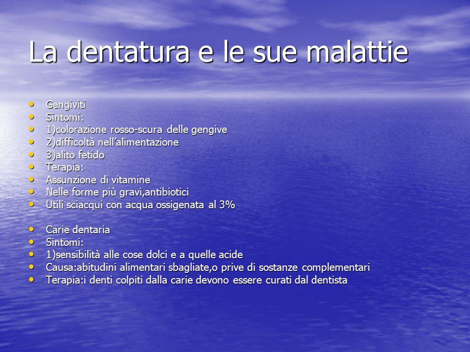 La dentatura e le sue malattie