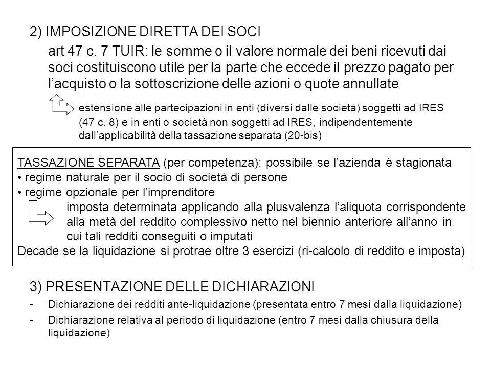 2) IMPOSIZIONE DIRETTA DEI SOCI