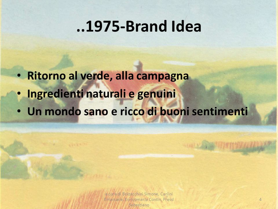..1975-Brand Idea Ritorno al verde, alla campagna