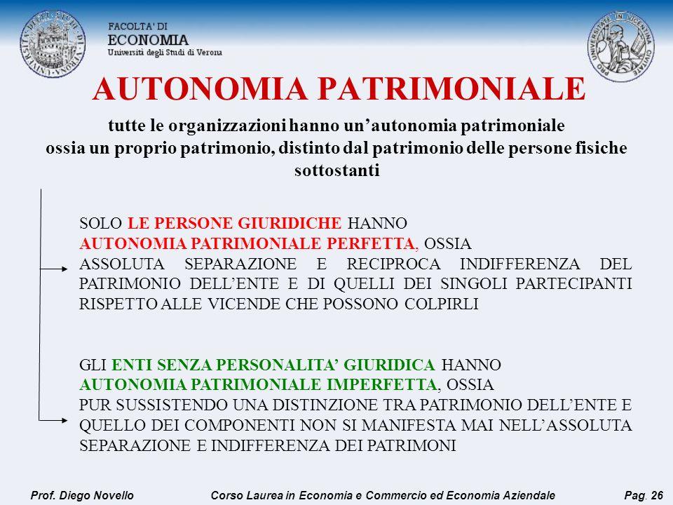 AUTONOMIA PATRIMONIALE