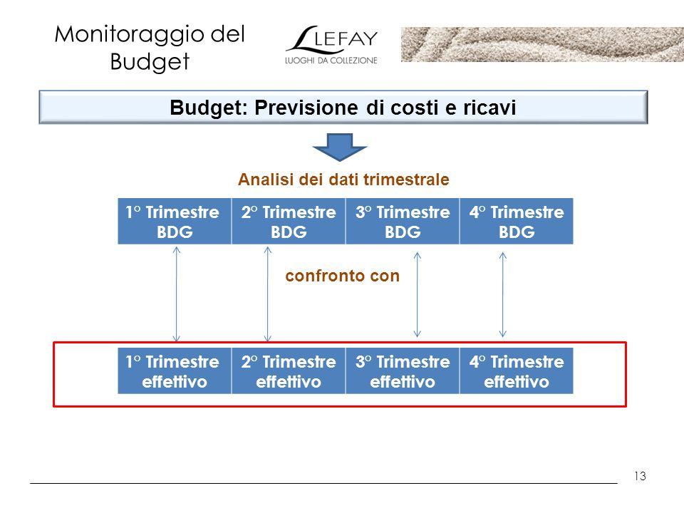 Monitoraggio del Budget
